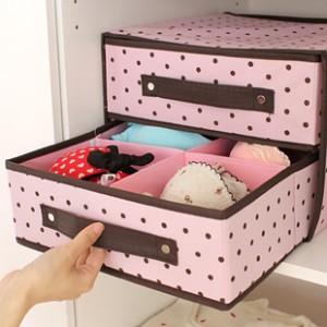underwear double drawer storage tempat penyimpanan pakaian dalam
