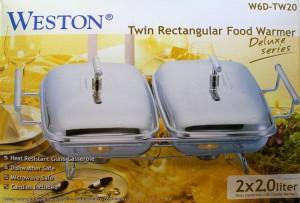 harga WESTON DELUXE TWIN RECTANGULAR FOOD WARMER W6D-TW15 Tokopedia.com