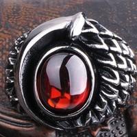Cincin Dragon Eye Gem Stone Stainless Steel