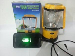 Lampu Camping + Power Bank ( bisa Charge atau Tenaga Surya ) Murah
