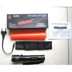 Senter Police Lalin + Stungun gun ( alat setrum Kejut ) Murah