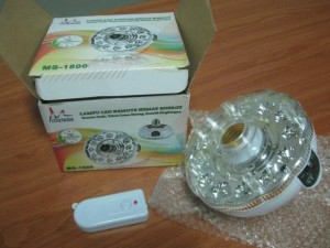 Lampu Emergency 2 in 1 with Remote