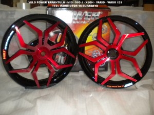 Velg Power Tarantula / Star Black - Red VARIO 110 - Beat - Mio - Xeon