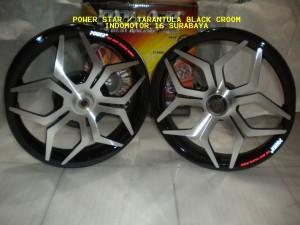Velg Power Tarantula / Star Black - Croom VARIO110 - Beat - Mio - Xeon