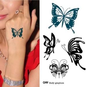 Butterfly temporary tatoo sticker waterproof