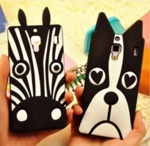 3D silicone dog/zebra xiaomi redmi 1s soft case