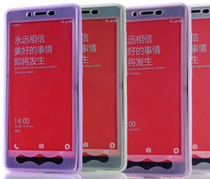 Xiaomi Redmi Note Transparent window silicon case