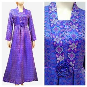 Afdhal Ikhsan Gaun Hijab Tenun Songket Gamis Batik