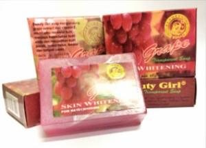 BEAUTY GIRL GRAPE TRANSPARENT SOAP SKIN WHITENING - SABUN PEMUTIH
