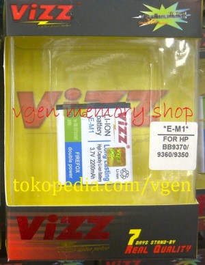 Battery Blackberry Curve 2200MAH VIZZ long lasting Baterai BB EM1  9350 9360 9370