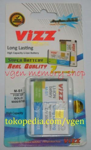 Battery Blackberry Bold 9000 3000MAH VIZZ long lasting Baterai BB MS1