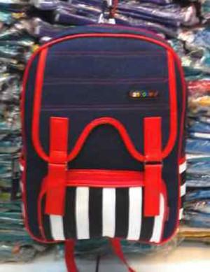 Tas Ransel / Backpack Wanita Remaja Bahan Denim 005