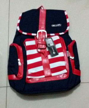 Tas Ransel / Backpack Wanita Remaja Bahan Denim 006
