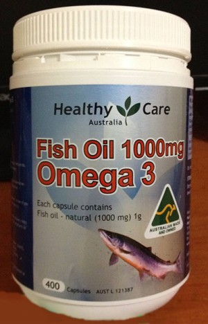 Fish Oil 1000mg Omega 3 Healthy Care Australia / Minyak Ikan