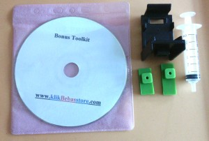 Toolkit Alat Penyedot Cartridge Rendah ( refill kit, alat service )