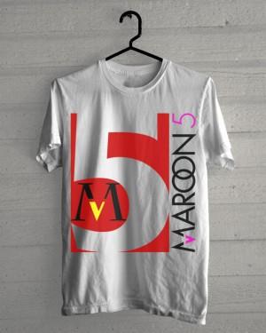 KAOS DISTRO MAROON 5 - MAROON FIVE KEREN