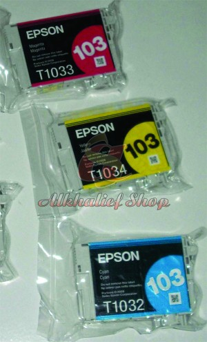 PROMO MURAH Tinta Ink Cartridge Epson 103 Cyan / Magenta / Yellow