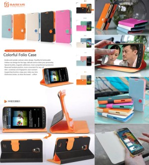 Baseus Colorful Leather Flip Case Cover Samsung Galaxy S4 Active i9295