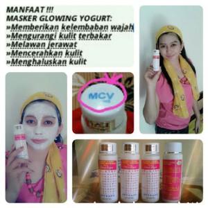 Masker Wajah Glowing Vitamin Pink Yogurt