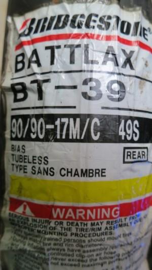 Ban Belakang Bridgestone Battlax 90/90-17 BT39SS Racing Tubeless Motor