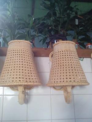 harga Kap lampu tempel antik dari rotan Tokopedia.com