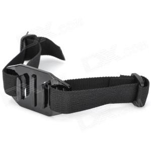 Helmet Strap Mount for GoPro and SJ4000 - Black