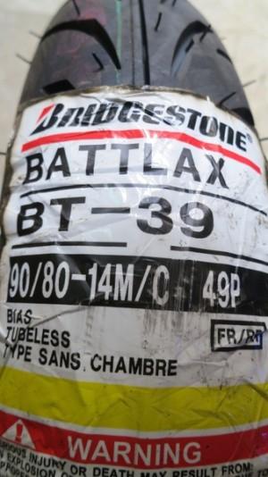 Ban Depan/Belakang Bridgestone Battlax 90/80-14 BT39 Racing Tubeless