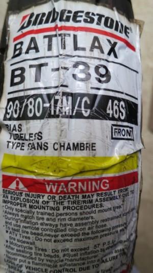 Ban Depan Bridgestone Battlax 90/80-17 BT39SS Racing Tubeless Front