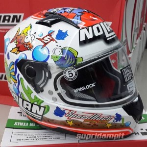 Helm Nolan N64 Melandri Aquarium full face helmet not shoei arai AGV