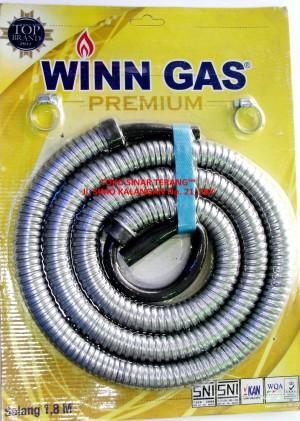 harga Selang Kompor Gas WIN GAS/ Selang Metal Spiral Stenlis Elpiji LPG SNI Tokopedia.com