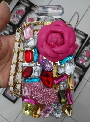 casing iphone 5 , 5s  case parfum batu permata