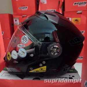 Jual Helm Nolan N44 Classic Glossy black, helm multy model not arai
