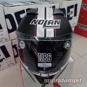 Helm Nolan N86 Rapid Flat black, helm full face double visor not AGV