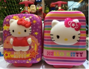 Tas Trolly Hello Kitty 3 Dimensi Ukuran 20x38x38CM