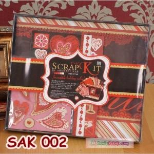 DIY ScrapBook 'Valentine' Kits- Photo Album Scrap book - Kado - SAK002