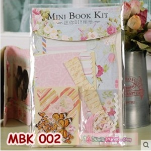 DIY Mini Book Kits- Scrapbook- Bahan Craft- Kado/hadiah unik - MBK 002