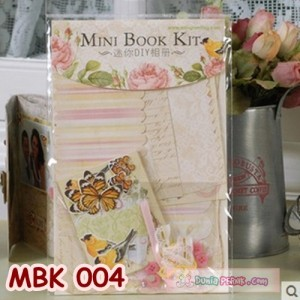 DIY Mini Book Kits- Scrapbook- Bahan Craft- Kado/hadiah unik - MBK 004