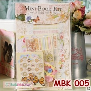 DIY Mini Book Kits- Scrapbook- Bahan Craft- Kado/hadiah unik - MBK 005