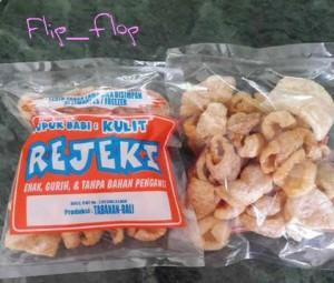 Kerupuk Rambak Kulit Babi 'REJEKI' 75 gram Asli Dari Bali (Non-Halal)