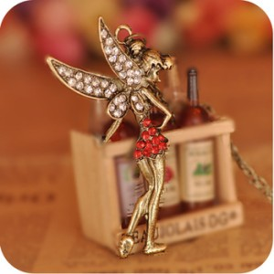 Kalung tinkerbell red diamond