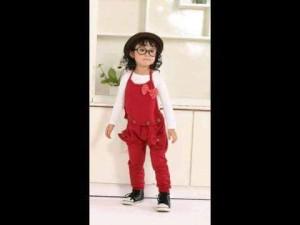 harga Red overall Hello Kitty Cotton kain katun celana monyet anak cewek HK Tokopedia.com