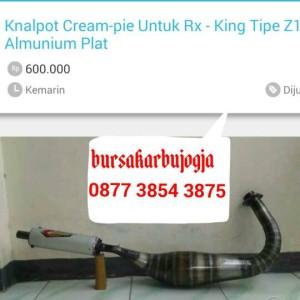 harga KNALPOT RX-KING CREAM-PIE TIPE Z1 Tokopedia.com