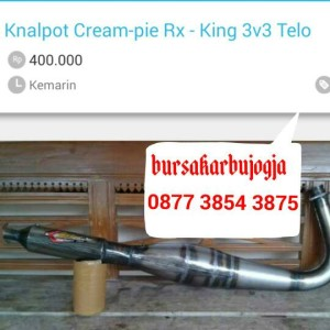 harga KNALPOT RX-KING CREAM-PIE TIPE TELO Tokopedia.com