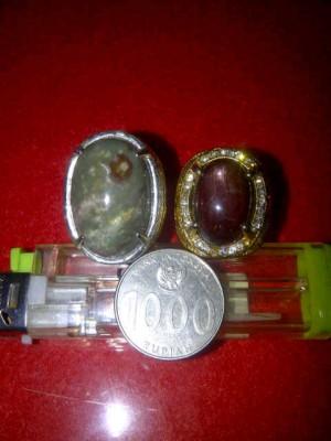 batu akik garut dan ruby merah daging(birma)