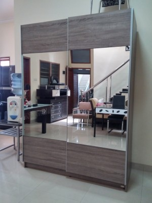xoxo furniture. Lemari Pakaian Dakota Sliding Door Full Kaca Xoxo Furniture Z