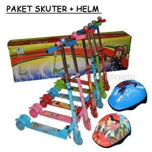 Skuter / Skuter Anak / Otopet / Paket Skuter + Helm Murah