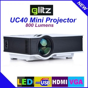 GLIZ LED PROJECTOR UC40 GARANSI 1TH, BONUS TAS PROJECTOR