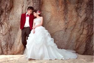 Wedding dress - Gaun Pengantin Ekor Panjang BORDIR PERUT Korea 2015
