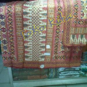 harga Songket batik motif tarutung - pink Tokopedia.com