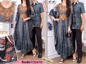 Jual Baju Gamis Batik Muslim Couple Silk Cotton Model